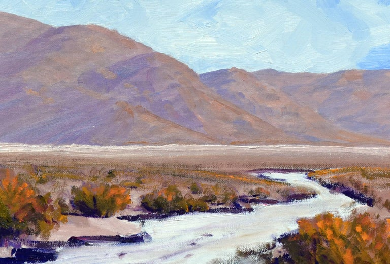 Desert Flats, Death Valley Landscape - Abstract Impressionist Painting by Michael Wright