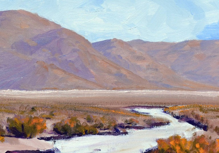 Desert Flats, Death Valley Landscape - Brown Landscape Painting by Michael Wright