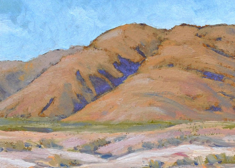 Desert Mountains Landscape - Abstract Impressionist Painting by Michael Wright