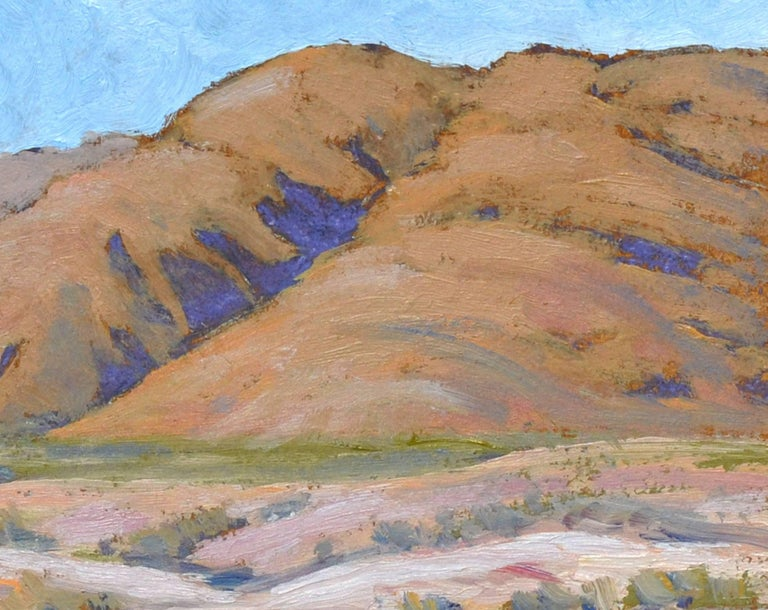 Desert Mountains Landscape - Brown Landscape Painting by Michael Wright