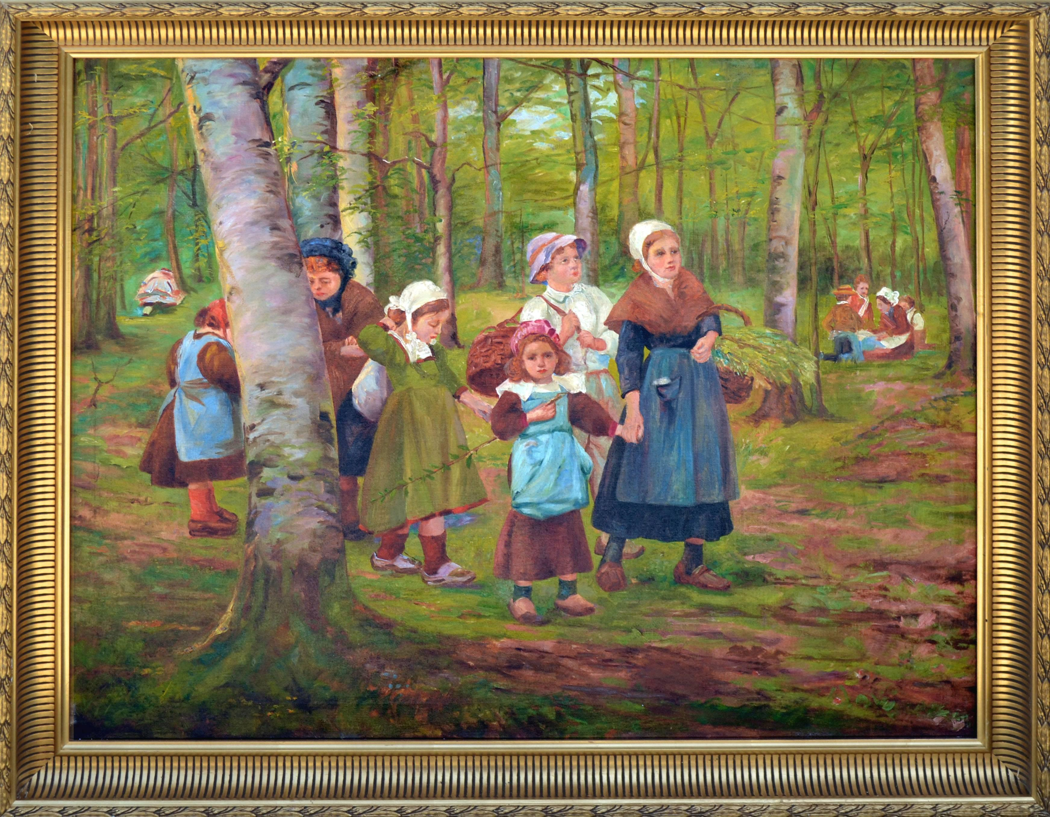 Dutch Family in the Forest