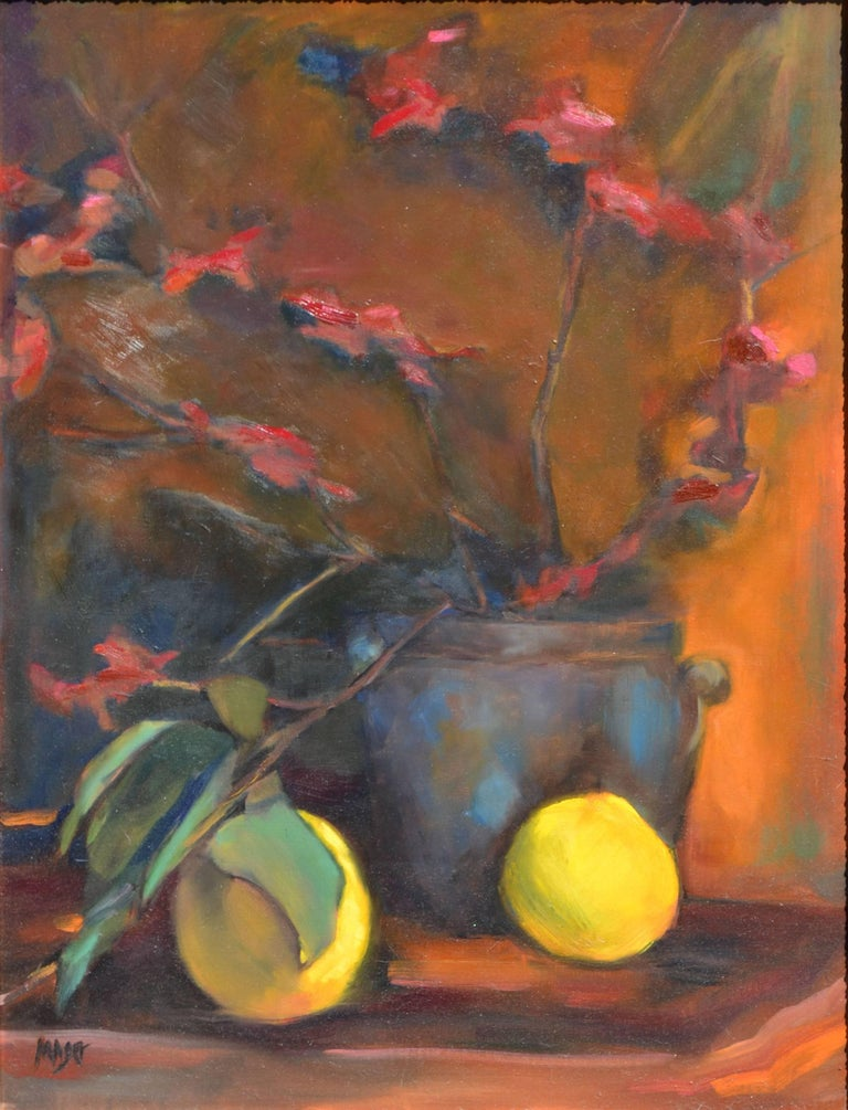 Lemon and Orchid Still Life