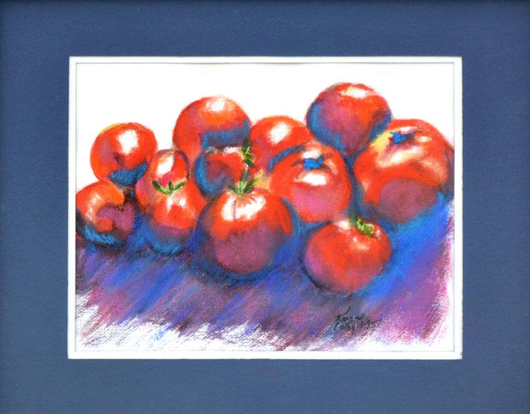 Red Tomatoes Still-Life - Painting by Karen Colby