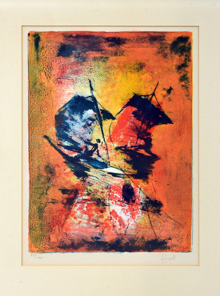 Mid Century -- Racing the Sun - Print by Hoi Lebadang
