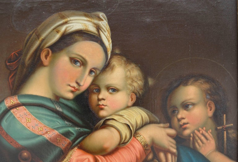 19th Century Study of Raphael's Madonna Della Seggiola - Renaissance Painting by Unknown