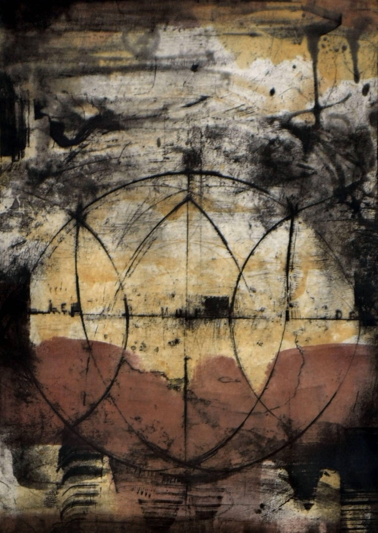 Earth Tones - Abstract Expressionist Print by Unknown