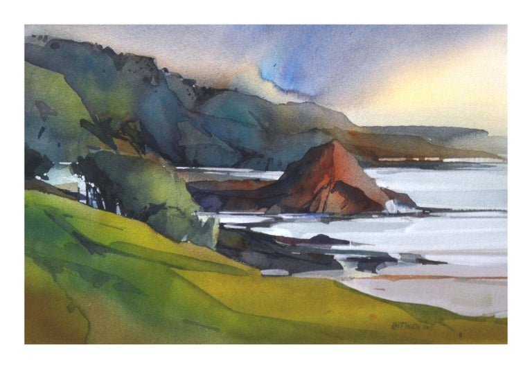 California Coastal Watercolor  - Painting by Dale Laitinen