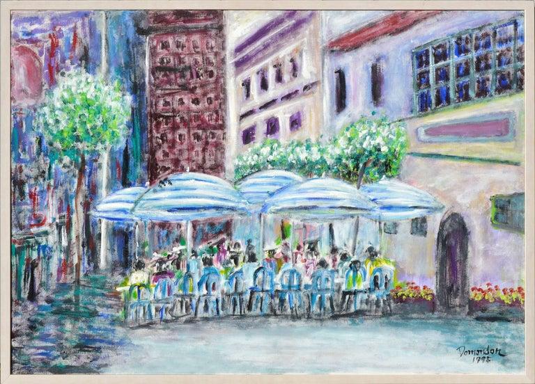 Frederico Domondon Landscape Painting - San Francisco Cafe Street Scene