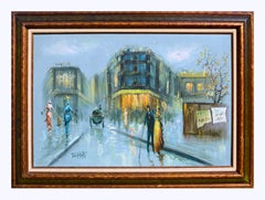 French Street Scene - Figurative Landscape