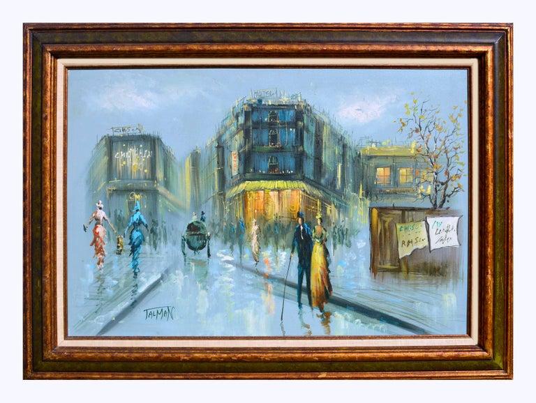 Talman Landscape Painting - French Street Scene - Figurative Landscape