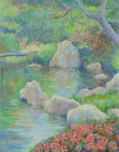 Springtime by the River Landscape