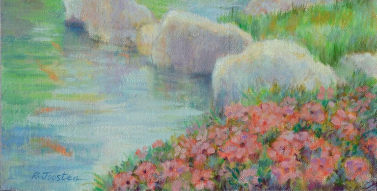 Springtime by the River - American Impressionist Painting by Ralph Edward Joosten