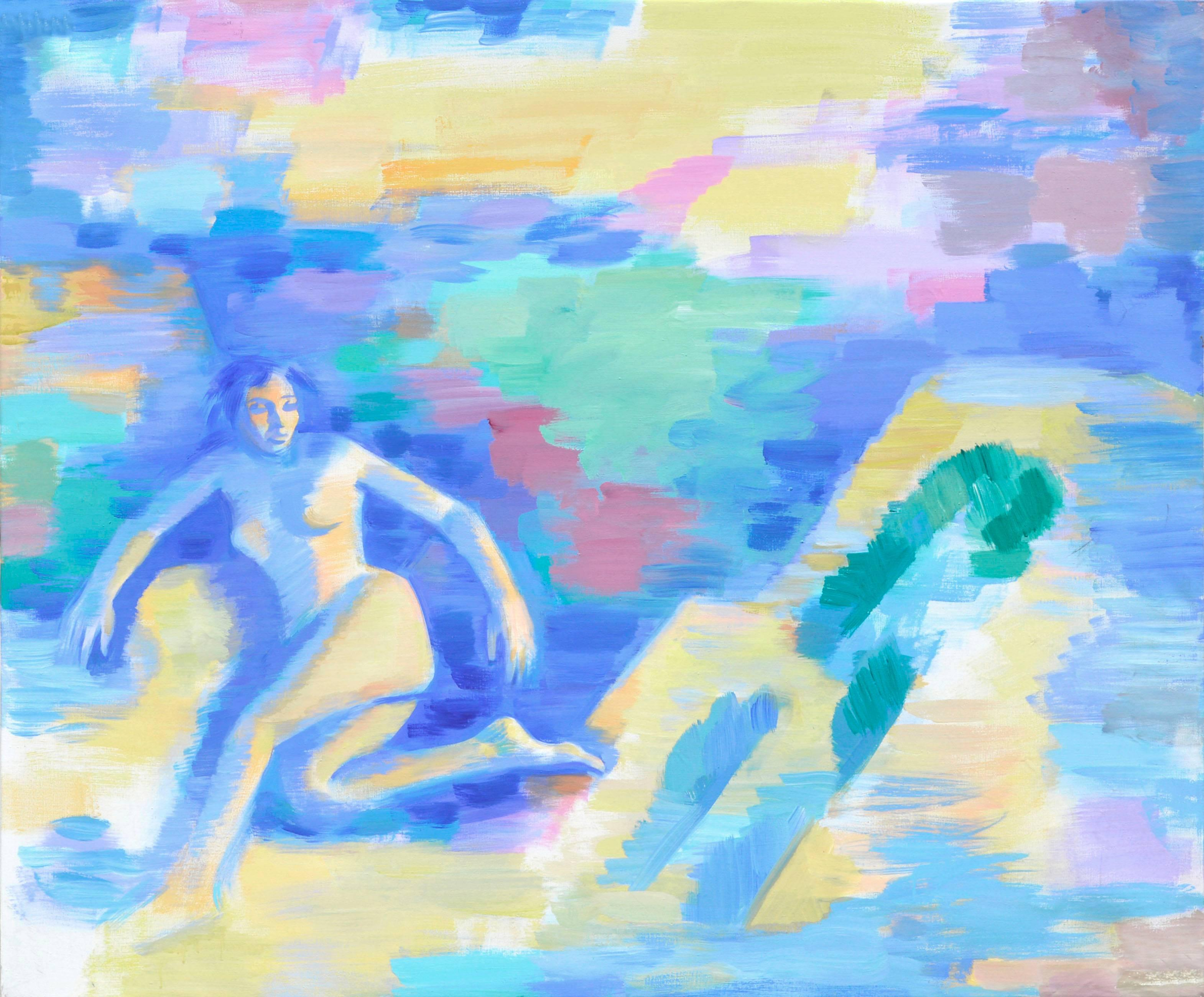 Blue Woman - Figurative Abstract