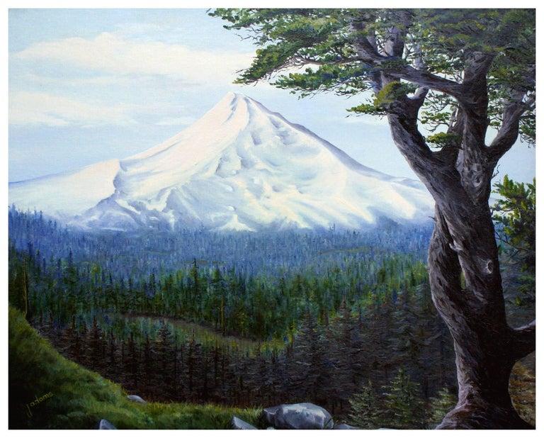 Mt. Hood, Oregon - Mountain Landscape  - Painting by J Adams