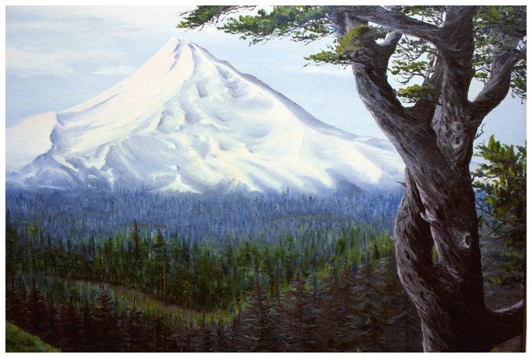 Mt. Hood, Oregon - Mountain Landscape  - American Impressionist Painting by J Adams