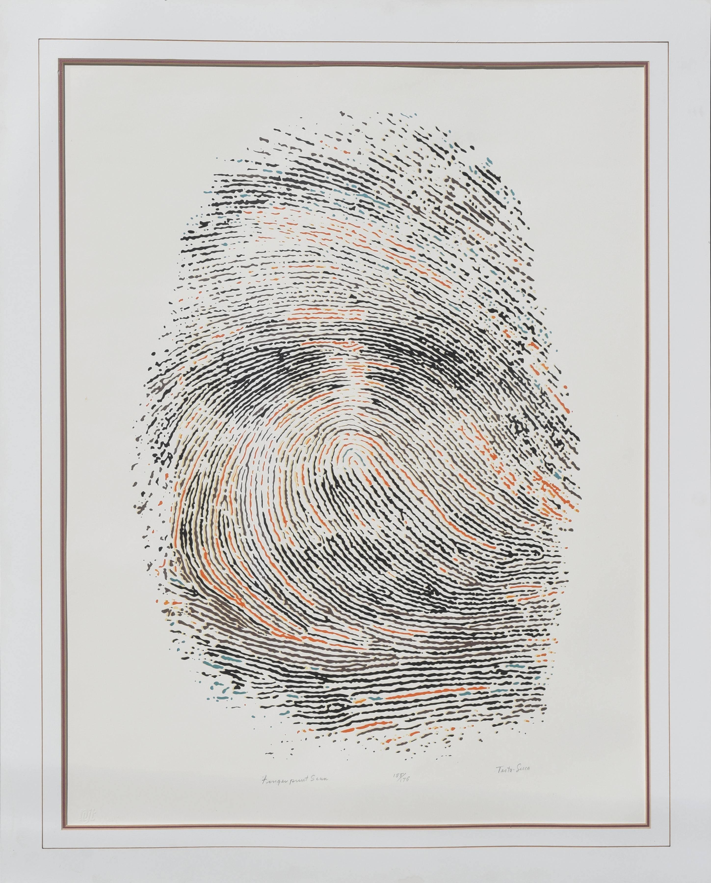 Fingerprint Face Abstract