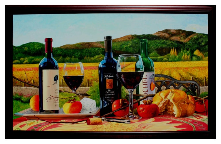 Napa Wine Tasting - Painting by Unknown
