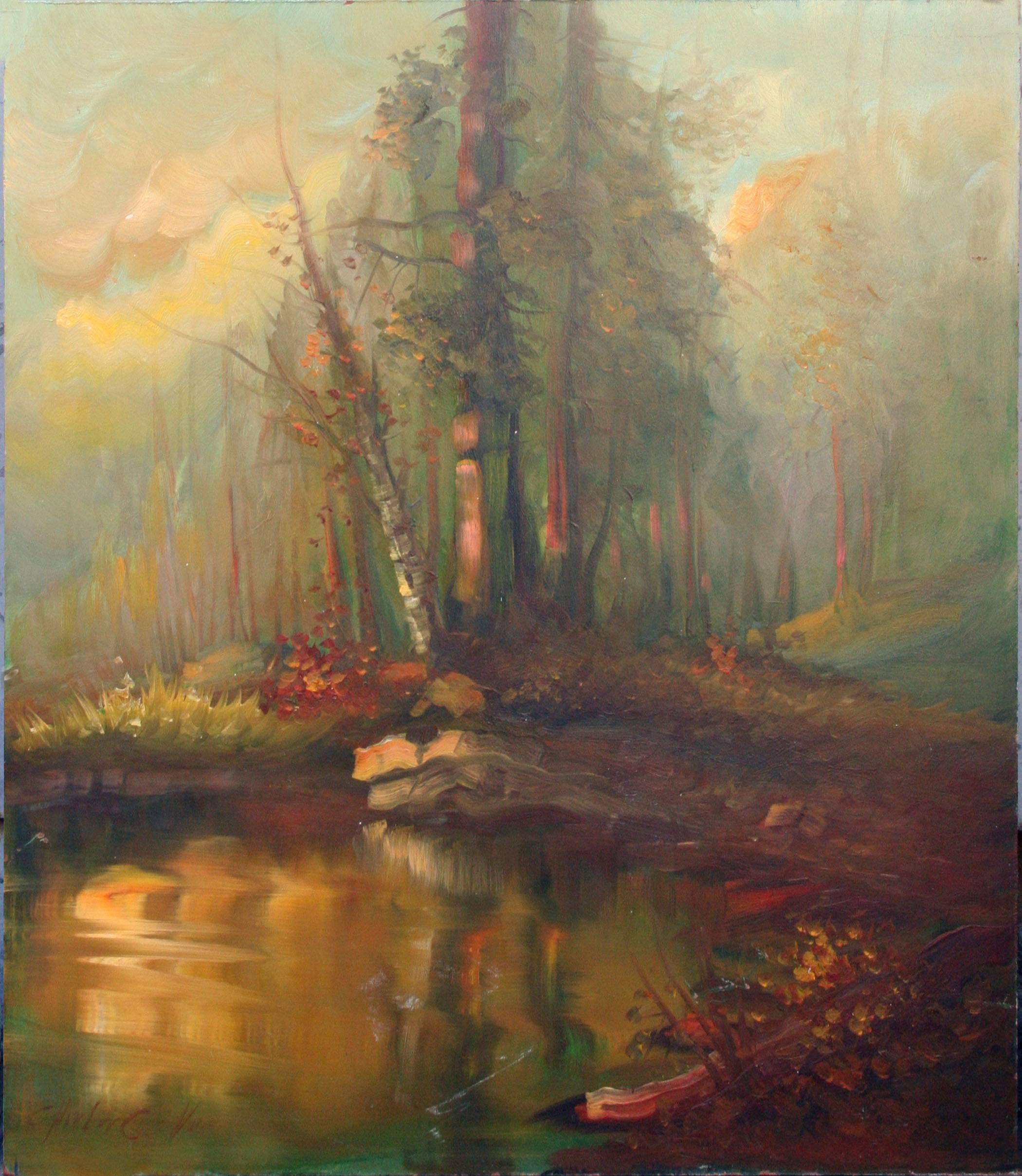 Forest at Sunset Landscape
