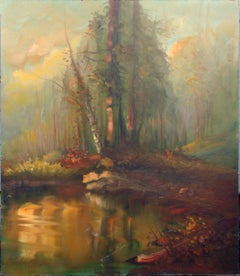 Forest at Sunset Landscape