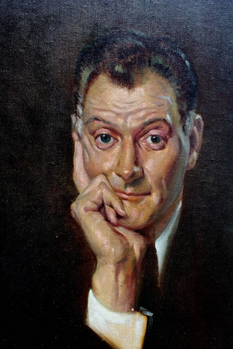 Portrait of Art Carney 1959 by Snowden  - Painting by Unknown