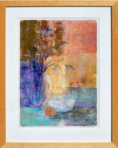 """""""Moving Still Life """" Abstract Still-Life Monotype"""