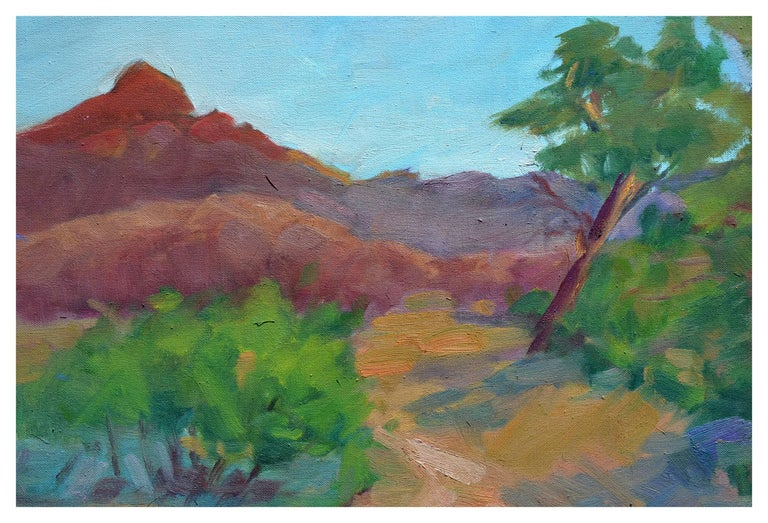 Distant Mountains Landscape - Painting by Jack Lynn