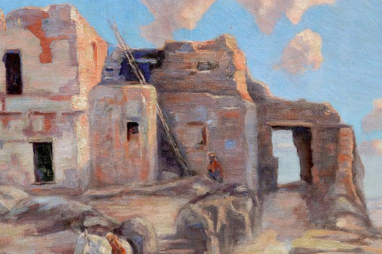 Walpi Hopi Village Arizona First Mesa Marion Kavanaugh (Wachtel) - American Impressionist Painting by Marion Kavanaugh Wachtel