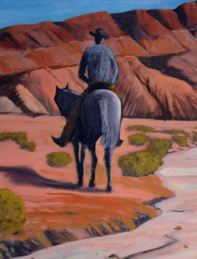 Desert Rider, Arizona - Painting by Mike Wright