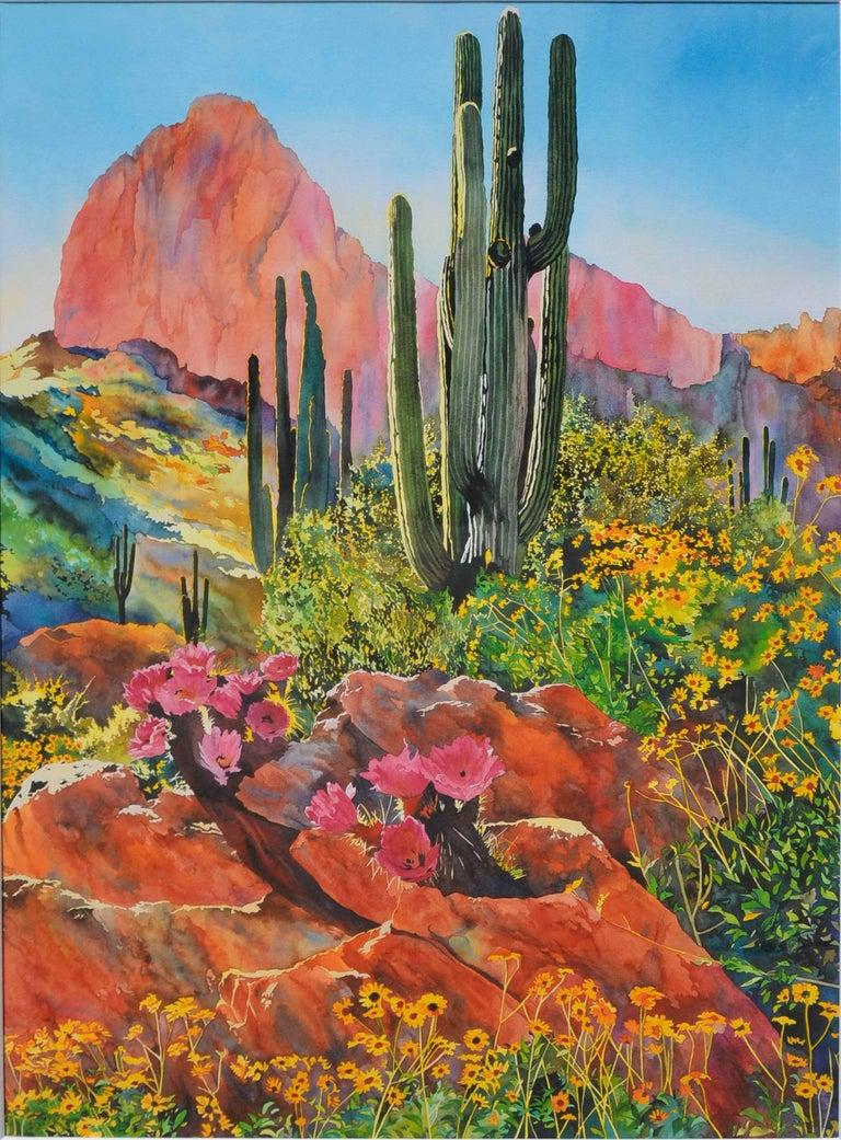 Desert Spring Landscape - Print by Laurie Bender