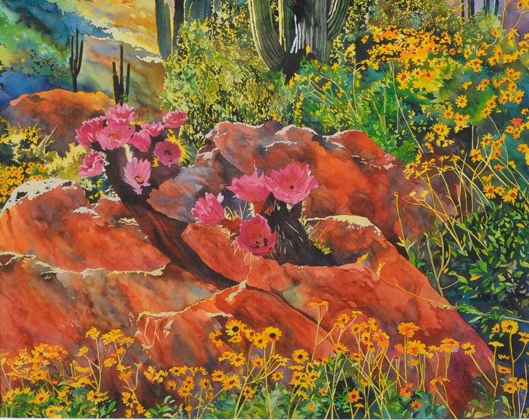 Desert Spring Landscape - American Impressionist Print by Laurie Bender