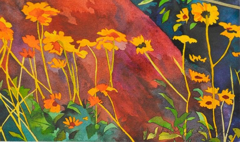 Desert Spring Landscape - Gray Landscape Print by Laurie Bender