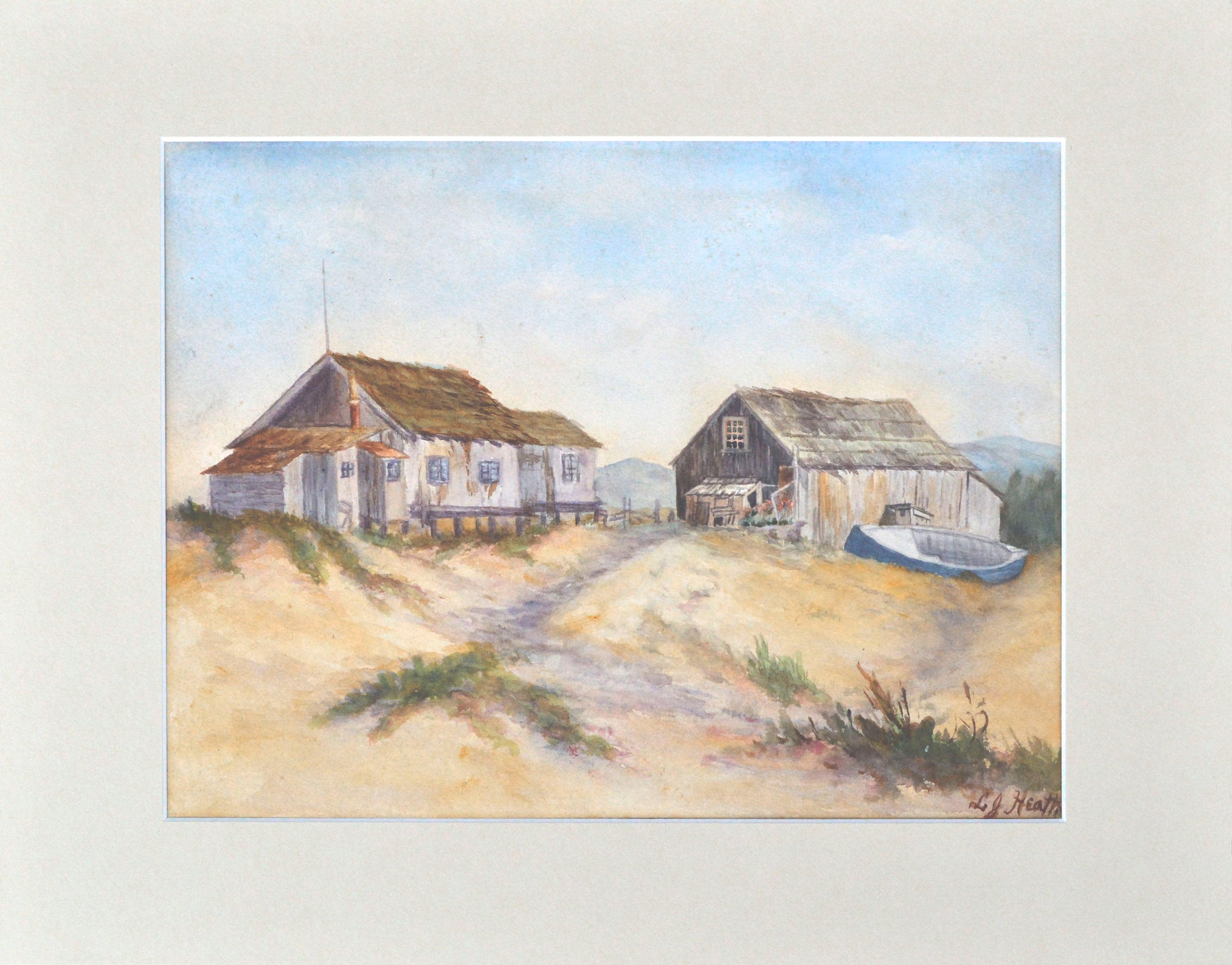 Old Davenport Whaling Village A Whaler's Cottage,  by Lilian Jackson Heath