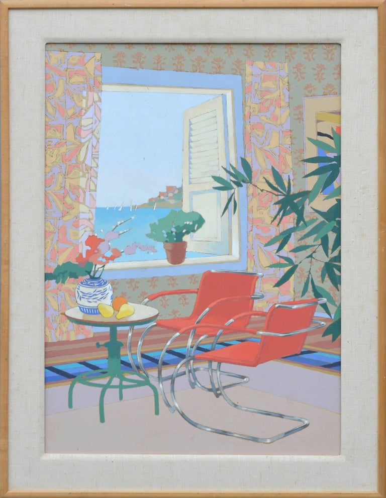 Max Hayslette Interior Painting - Interior With Mies (B)