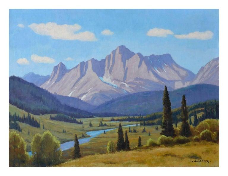 Lloyd C. Laverick Landscape Painting - Cataract Creek, Alberta Landscape