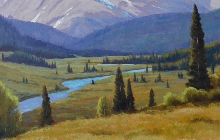 Cataract Creek, Alberta Landscape  - Impressionist Painting by Lloyd C. Laverick