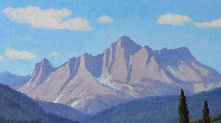 Cataract Creek, Alberta Landscape  - Blue Landscape Painting by Lloyd C. Laverick