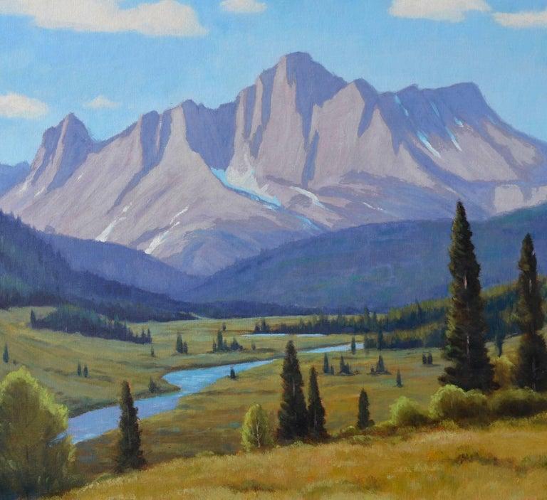 Cataract Creek, Alberta Landscape  - Painting by Lloyd C. Laverick