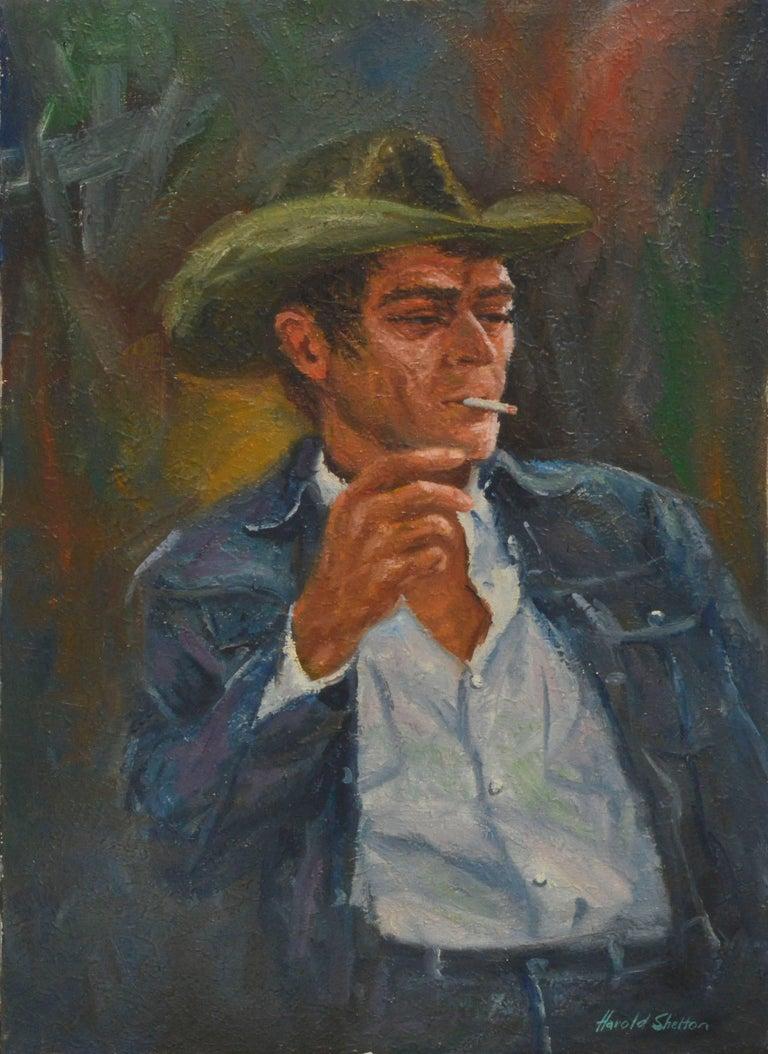 Harold Shelton Portrait Painting - Steve McQueen Portrait