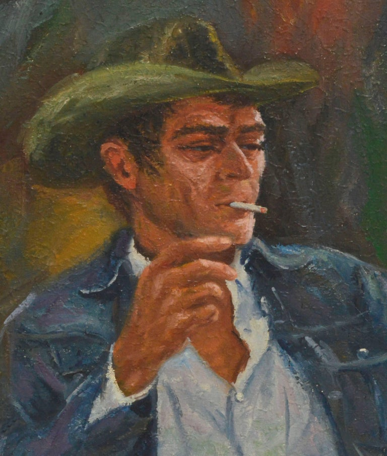 Steve McQueen Portrait - Painting by Harold Shelton