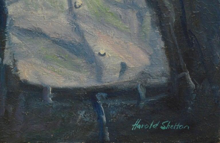 Steve McQueen Portrait - American Modern Painting by Harold Shelton