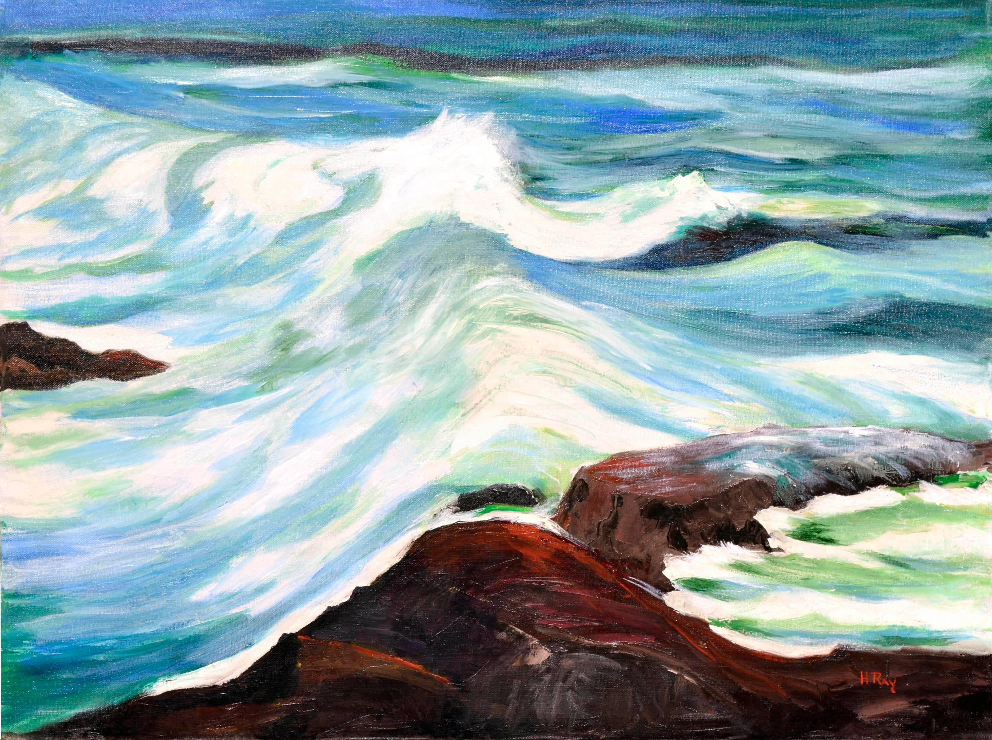 Mid Century Incoming Tide Seascape