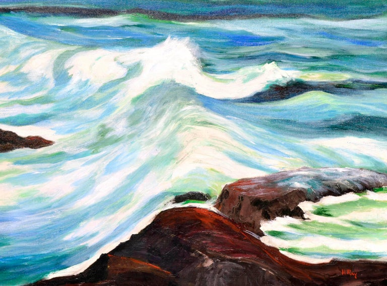 Incoming Tide Seascape - Painting by Hartzell Harrison Ray