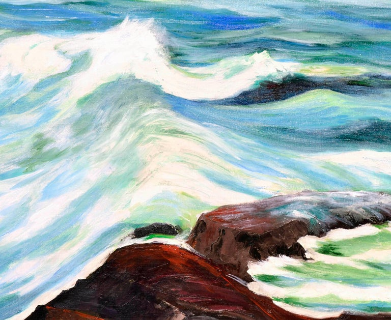 Incoming Tide Seascape - American Impressionist Painting by Hartzell Harrison Ray
