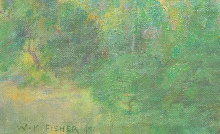 California Foothills - American Impressionist Painting by Walter Kenrick Fisher