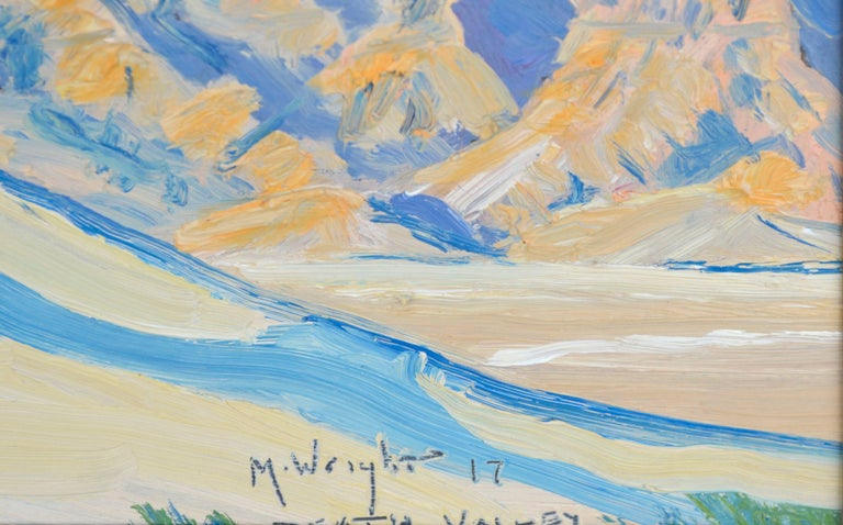 Death Valley, California - Brown Landscape Painting by Mike Wright