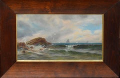 Early 20th C. Sailing Ships Seascape
