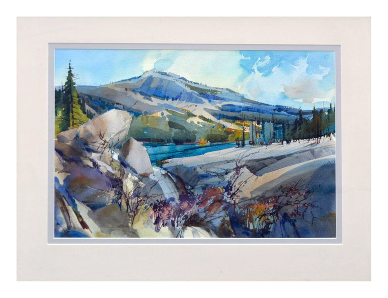Granite Bluffs Yosemite - Painting by Dale Laitinen