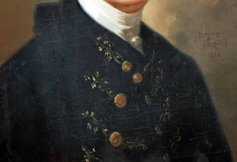 Study of John Singleton Copley's painting of John Hancock  - Painting by John B. Monaco