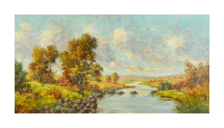 California Creek on a Lazy Autumn Day - Painting by Hans Kerner