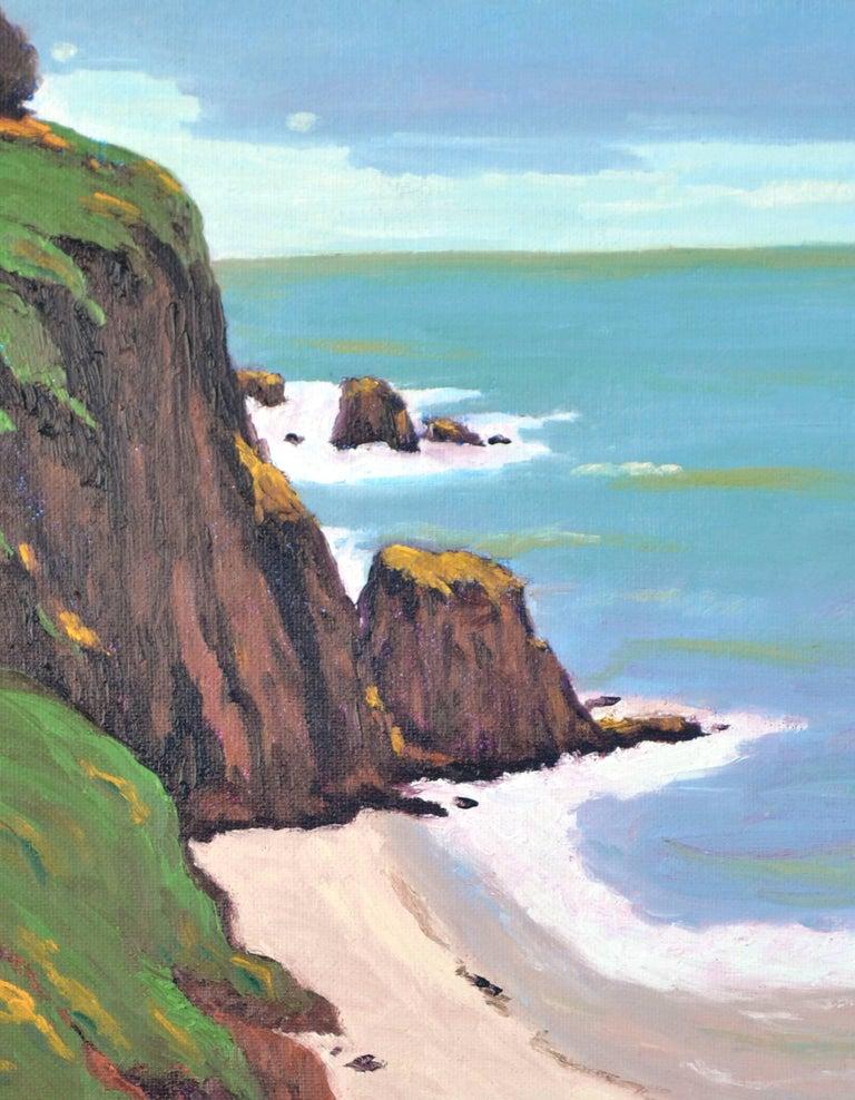 Coastal Bluffs by Jesse Don Rasberry - Painting by Jesse Don Rasberry